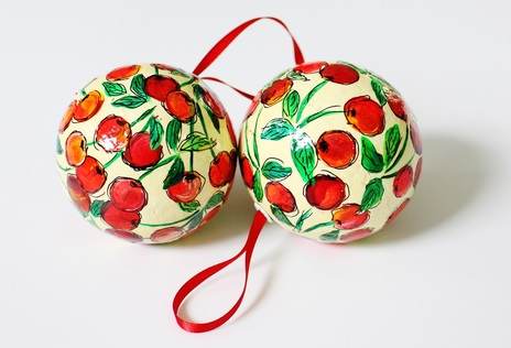 Kugel Craft Hand Painted Baubles Christmas Decorations Ornaments